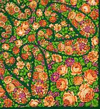 Русский сувенир 394-10, павлопосадский платок из уплотненной шерсти без бахромы, фото 5