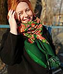 Русский сувенир 394-10, павлопосадский платок из уплотненной шерсти без бахромы, фото 3