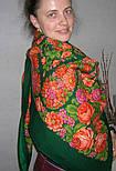 Русский сувенир 394-10, павлопосадский платок из уплотненной шерсти без бахромы, фото 2