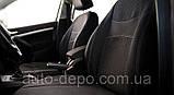Чехлы на сиденья Рено Логан, Чехлы для Renault Logan 2013- sedan (раздельная спинка) Nika комплект, фото 4