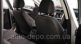 Чехлы на сиденья Рено Логан, Чехлы для Renault Logan 2013- sedan (раздельная спинка) Nika комплект, фото 8