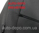 Чехлы на сиденья Рено Логан, Чехлы для Renault Logan 2013- sedan (раздельная спинка) Nika комплект, фото 10