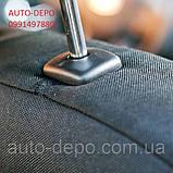 Чехлы на сиденья Рено Логан, Чехлы для Renault Logan 2013- sedan (раздельная спинка) Nika комплект, фото 9