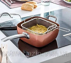 Сковородка с фритюрницей COPPER PAN, фото 2