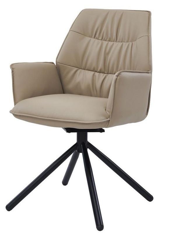 Кресло поворотное Boston бежевое (111840) кожзам Concepto