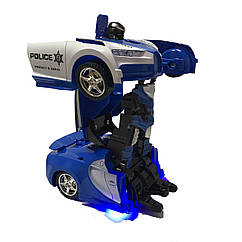 Радиоуправляемая машинка-трансформер полицейская Transforms бугатти размер 1:18