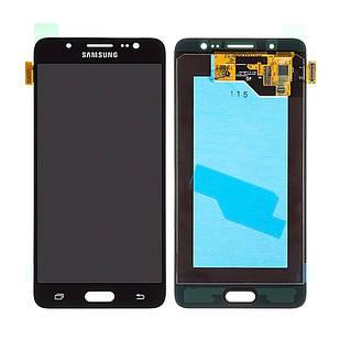 Модуль для Galaxy J5 Samsung J510, черный, дисплей + сенсор