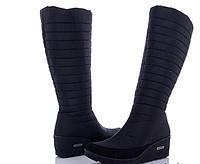 Сапоги женские зимние дутые, черные. 37 38 39 39  размер