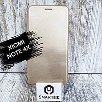 Чехол книжка для Xiaomi Redmi Note 4x Золотой