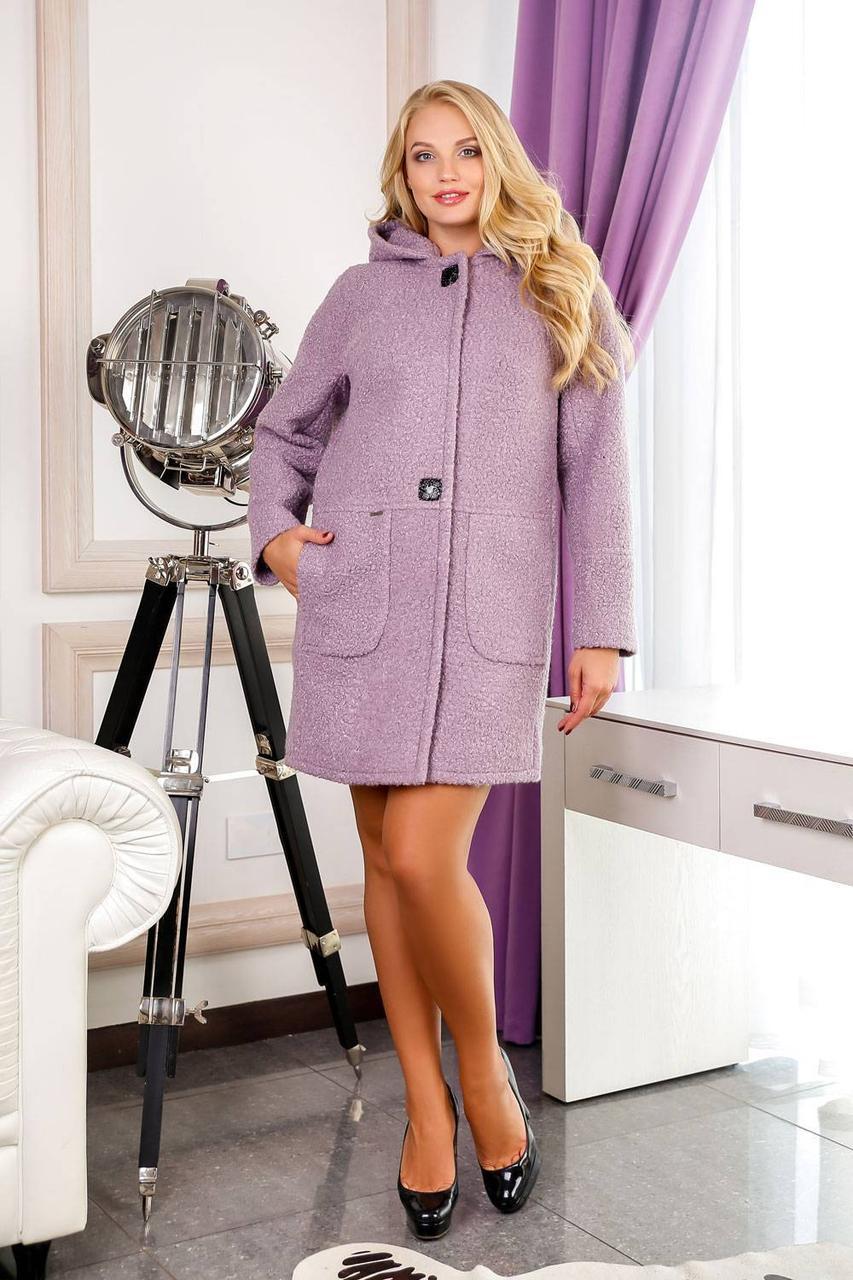 Женское демисезонное пальто В-1049 W09+BND р.60