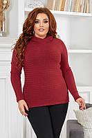 Женский кашемировый свитер реглан батал, фото 1