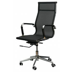 Офисное кресло Solano mesh черное с высокой спинкой сеткой