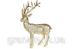 Декоративная фигура Олень 76 см золотистый