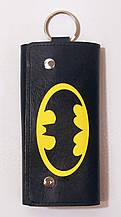 Чехол для ключей, ключница из экокожи с принтом
