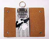 Чехол для ключей, ключница из экокожи с принтом, фото 2