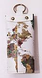 Чехол для ключей, ключница из экокожи с принтом, фото 4
