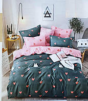Полуторное постельное белье 150х220 Ранфорс-хлопок 100% (15239)