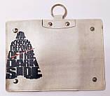 Чехол для ключей, ключница из экокожи с принтом, фото 3
