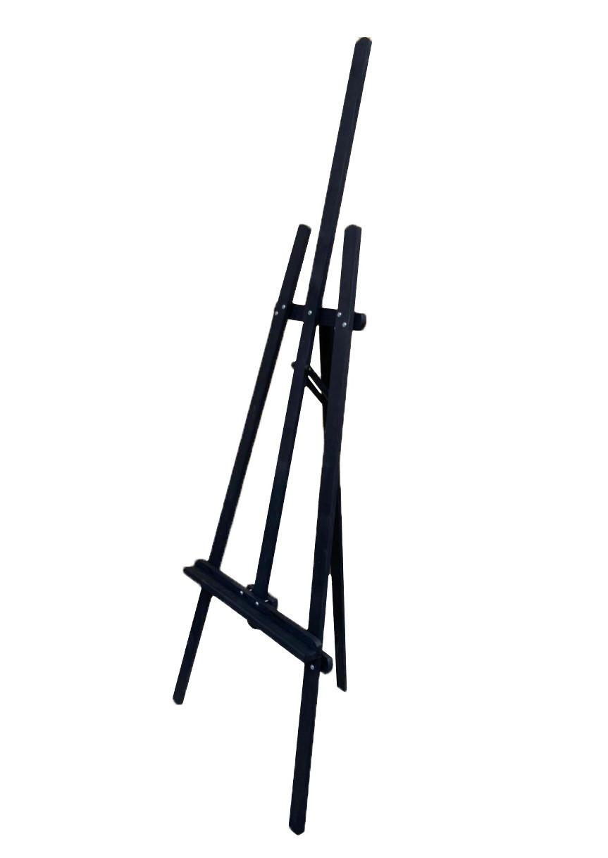 Мольберт деревянный переносной складной напольный178 х 58 х 40 см Energy Wood №47 дерево сосна черный