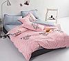 Полуторный комплект постельного белья 150х220 Ранфорс-хлопок 100% (15394)