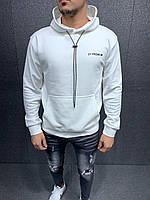 Мужской модный осенний свитшот (белый) 6027