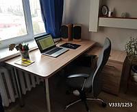 Угловой компьютерный стол на хромированных ножках Модель V333-1253, фото 1