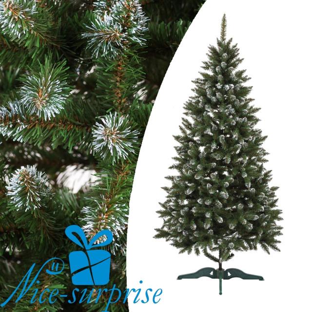купить искусственную елку зеленую с белыми кончиками в Харькове