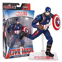 Ігрова колекційна Фігурка Капітан Америка Месники, висота 18 см підставка Captain America Marvel Avengers