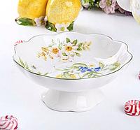 Фарфоровая конфетница на ножке Лимон 924-397, фото 1