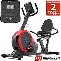 Магнітний, горизонтальний велотренажер HS-060L Pulse Red до 130 кг. Гарантія 24 міс.