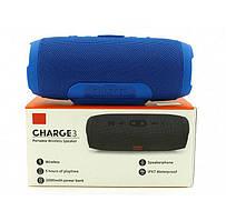 Портативна колонка Charge 3 з bluetooth blue