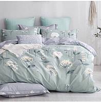 """Семейный набор постельного белья Бязь """"Gold"""",  расцветка как на фото, цветы на мятном"""