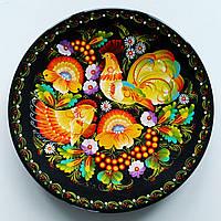 Тарелка с петриковской росписью , диаметр 25 см., фото 1