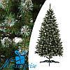 Искусственная рождественская елка НОРВЕГИЯ зеленая с белыми кончиками 210 см