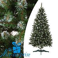 Искусственная рождественская елка НОРВЕГИЯ зеленая с белыми кончиками 210 см, фото 1