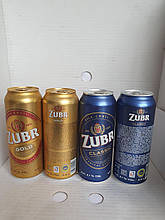 Пиво Zubr Clasik 4.1%/gold 4.6%  0.5 л Чехия