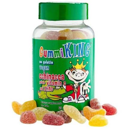 GummiKing Echinacea Plus Vitamin C + Zinc for Kids 60 Gummies, фото 2