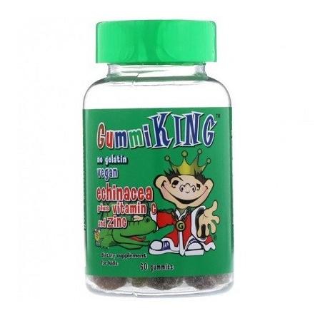 GummiKing Echinacea Plus Vitamin C + Zinc for Kids 60 Gummies
