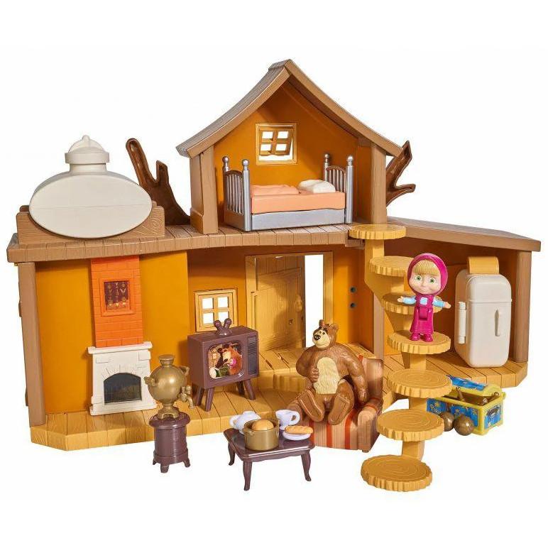 Детский игровой набор Маша и Медведь Дом Медведя с фигурками и аксессуарами Simba