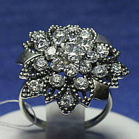 Массивное кольцо из серебра Цветок 11084, фото 1