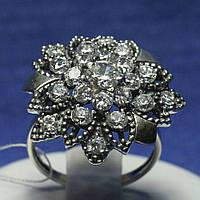 Массивное серебряное кольцо Цветок 11084, фото 1