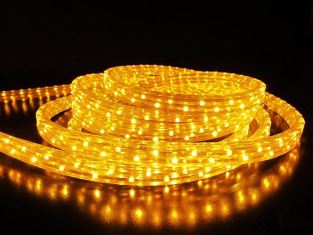 Гирлянда Дюралайт LED желтая 10 метров с контроллером