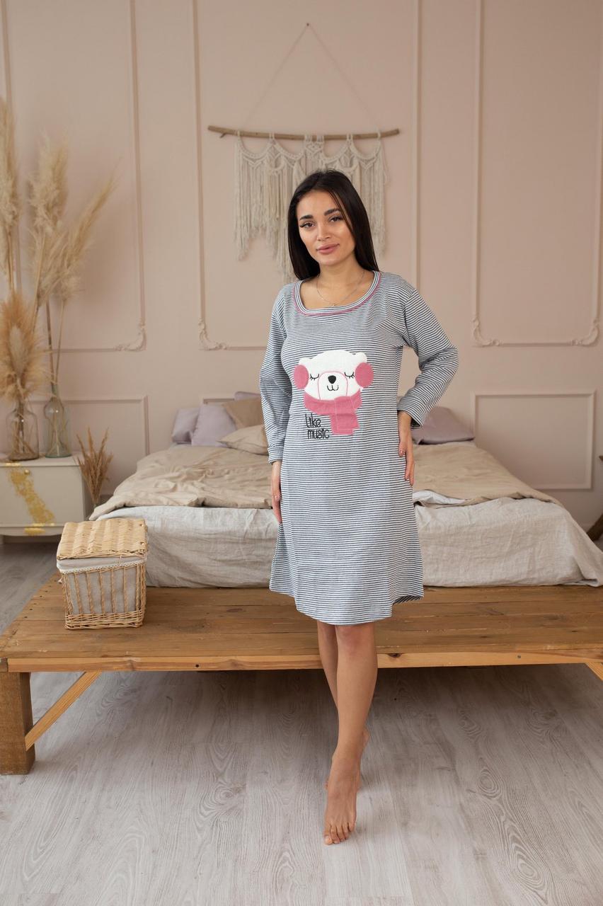 Платье домашнее (ночнушка) интерлок Турция