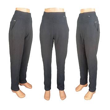 Женские леггинсы брюки мелкая клетка на меху