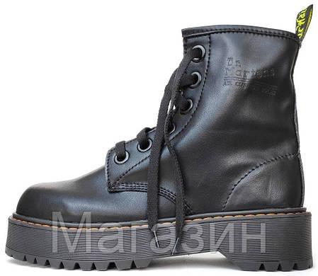 Женские зимние ботинки Dr. Martens Molly Black Доктор Мартинс Молли черные без меха, фото 2