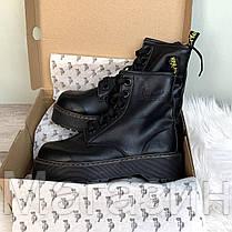 Женские зимние ботинки Dr. Martens Molly Black Доктор Мартинс Молли черные без меха, фото 3