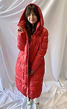 Тёплое зимнее удлинённое пальто, норма