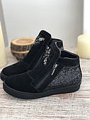 Кожаные женские демисезонные ботинки маленький размер 5216 размеры 34,35