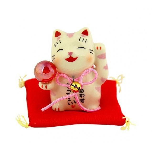 Манеки-неко «З рожевою перлиною»