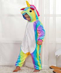 Детский Костюм Кигуруми, Пижама кингуруми Радужный Единорог Звездный для детей на взрослых детские пижамы